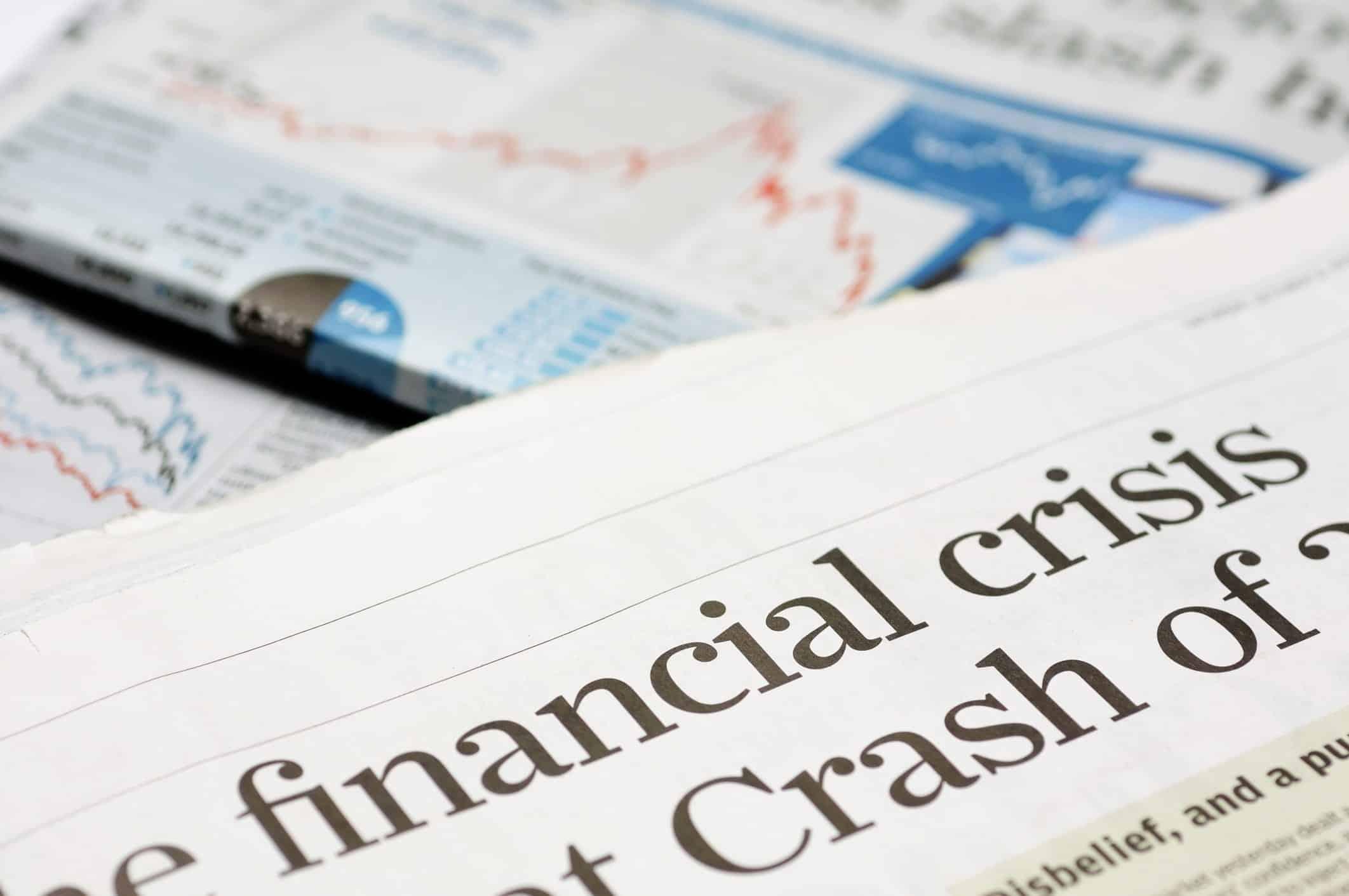 Überschrift in Zeitung: Finanzkrise